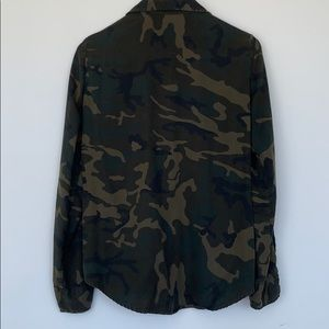 Zara Camo Button Down Shirt with Studs